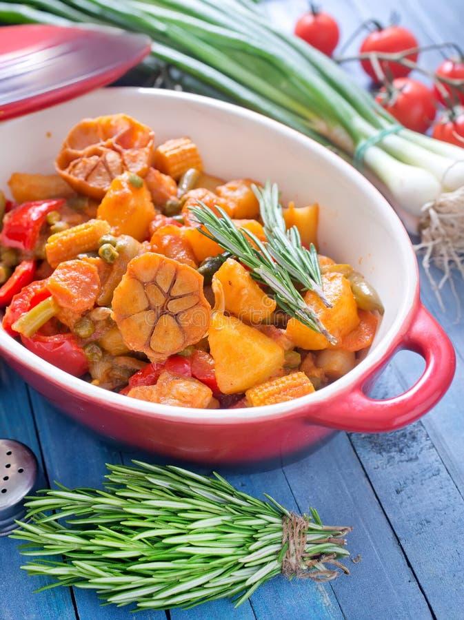 Download испеченные овощи стоковое изображение. изображение насчитывающей кухня - 41659867
