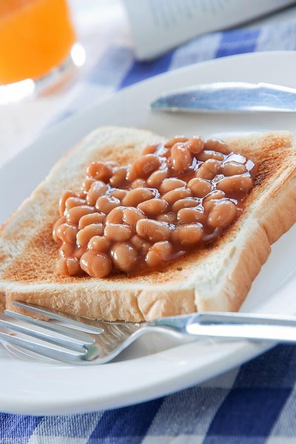 испеченный завтрак фасолей стоковое изображение