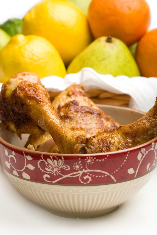 испеченный цыпленок стоковое изображение rf