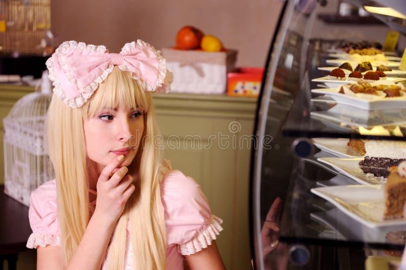 испечет девушку стоковые фотографии rf