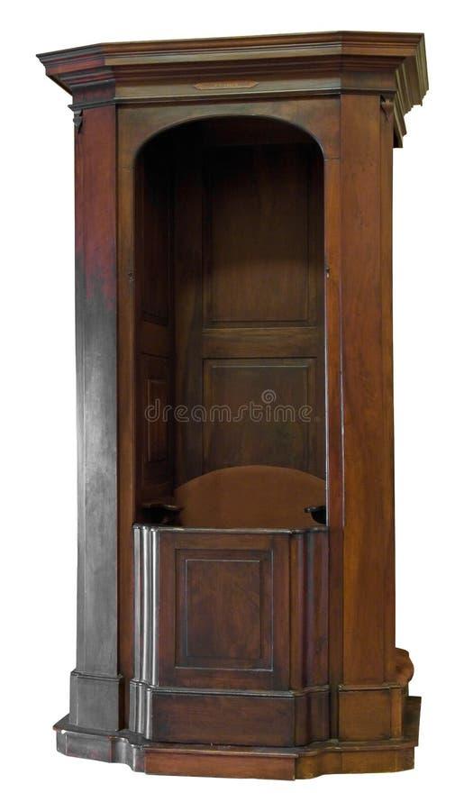 исповедническое деревянное стоковое изображение