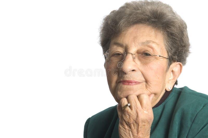 исполнительная старшая женщина стоковая фотография