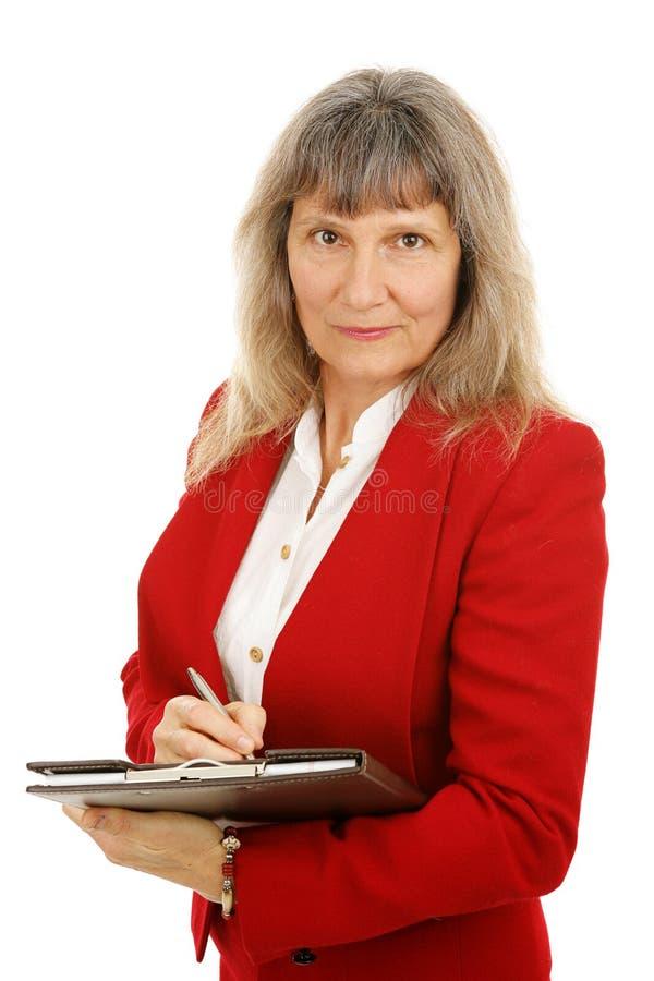 исполнительное женское серьезное стоковое фото