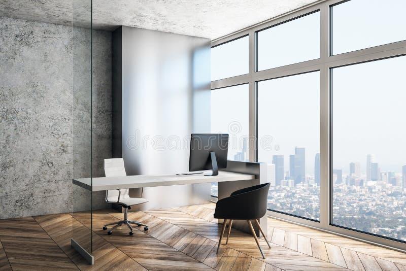 Исполнительное рабочее место в современном интерьере иллюстрация штока