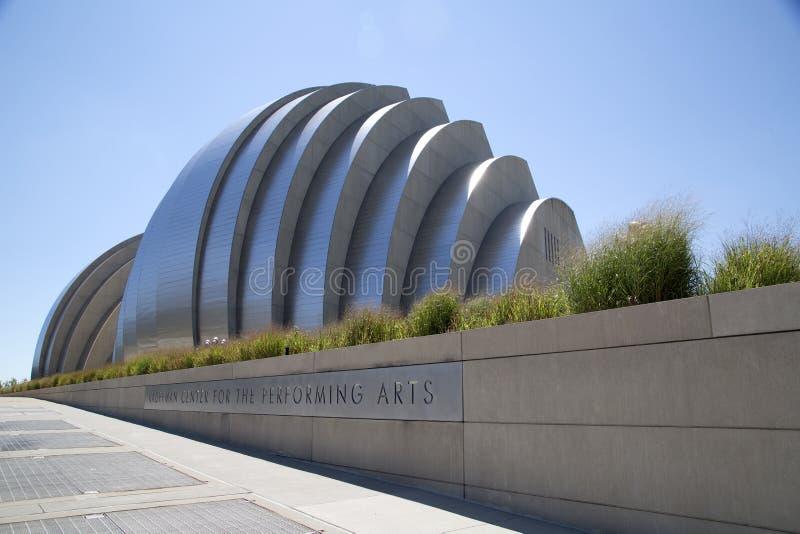 Исполнительского искусства центра центр города внутри города Канзаса стоковое изображение rf
