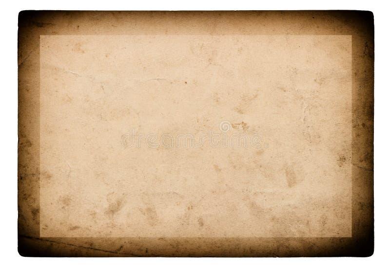 Используемая предпосылка бумажной винтажной рамки фото белая стоковое изображение rf