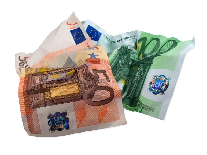 используемые кредитки eur стоковое фото