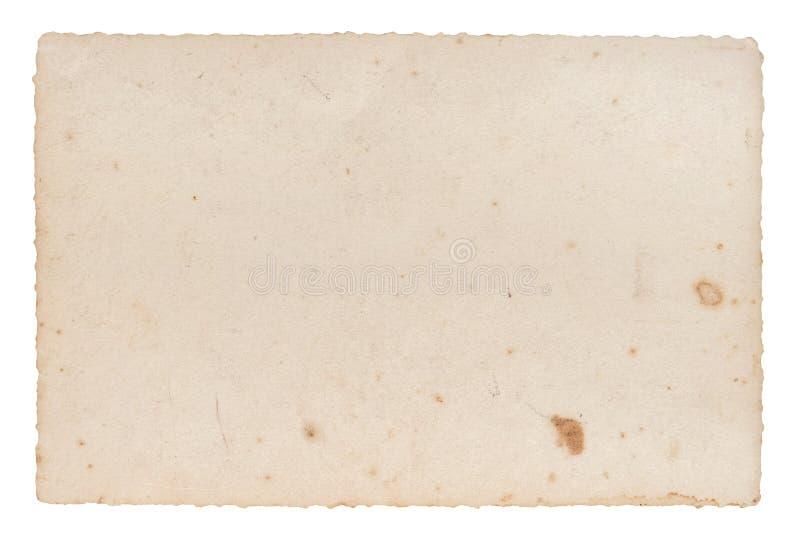 Используемые пятна карточки фото бумажного листа старые стоковая фотография rf