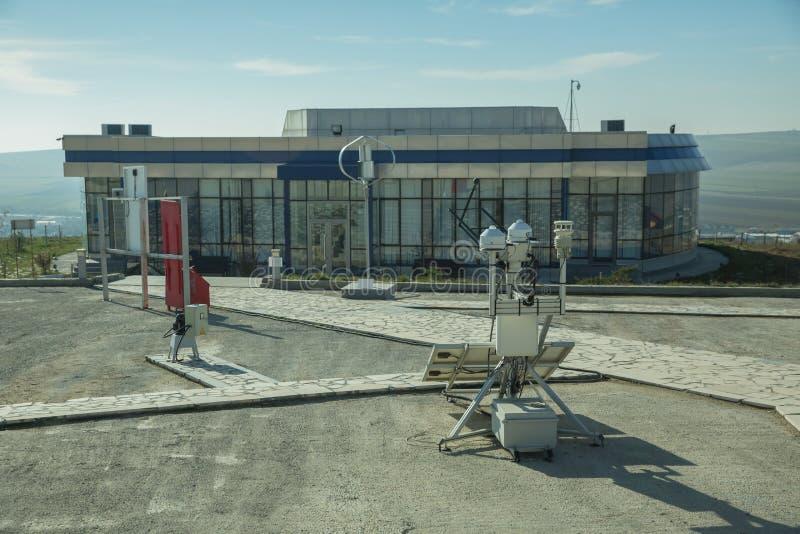 использующее энергию Солнечн системное руководство электричества Современная фабрика лэндфилл-газа, используя пульпу сахарной све стоковая фотография rf