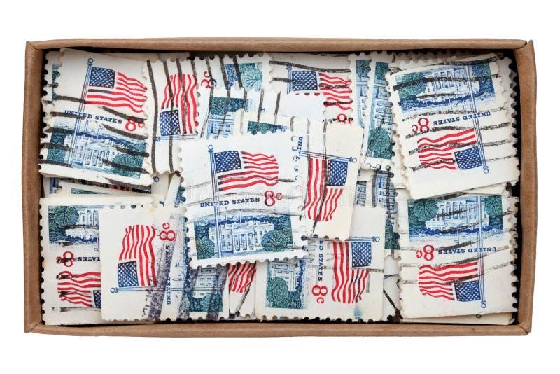 Используемые штемпеля почтового сбора США стоковые фото