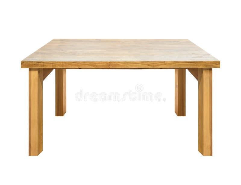 Используемый изолированный деревянный стол стоковые изображения rf