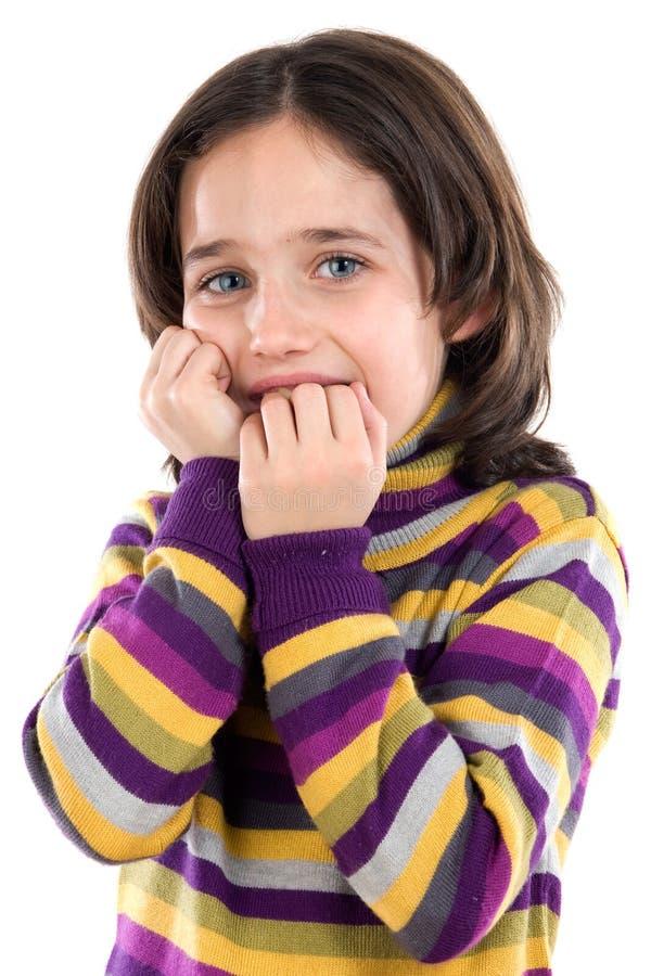 испуганная девушка стоковое изображение