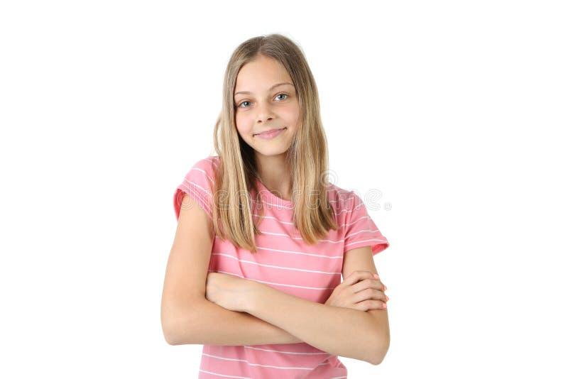 испуганным детеныши девушки стороны удивленные портретом стоковая фотография rf