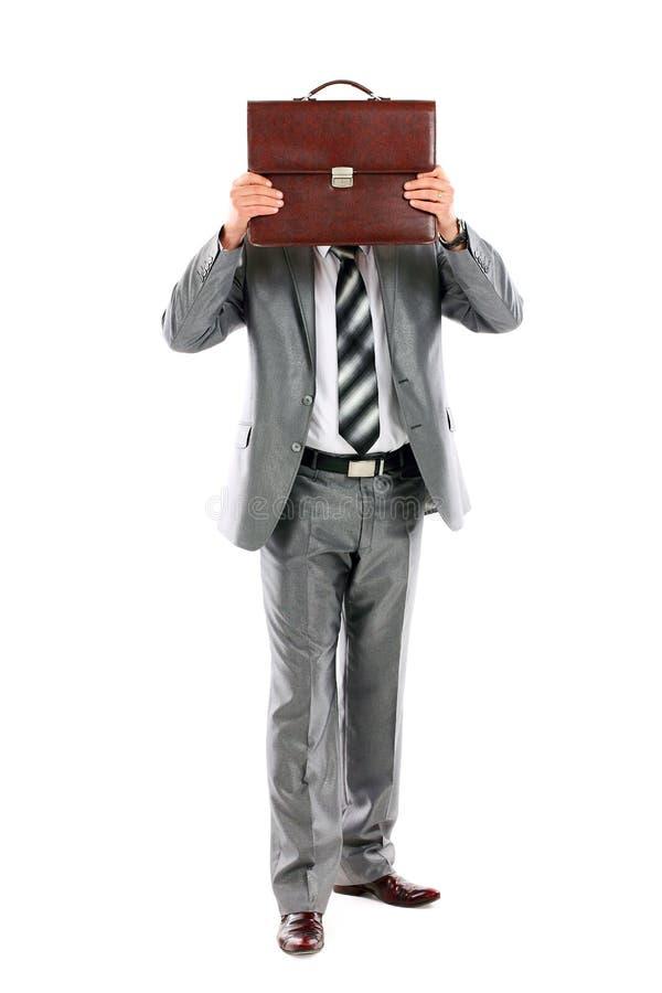 испугано что-нибыдь бизнесмен который детеныши стоковые изображения rf