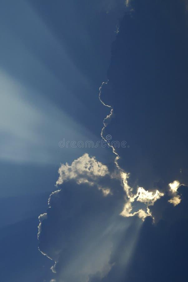 испускает лучи бог стоковая фотография rf