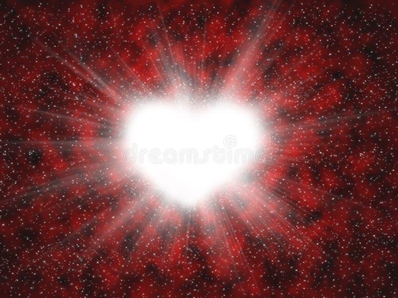 испускает лучи сердце стоковое изображение