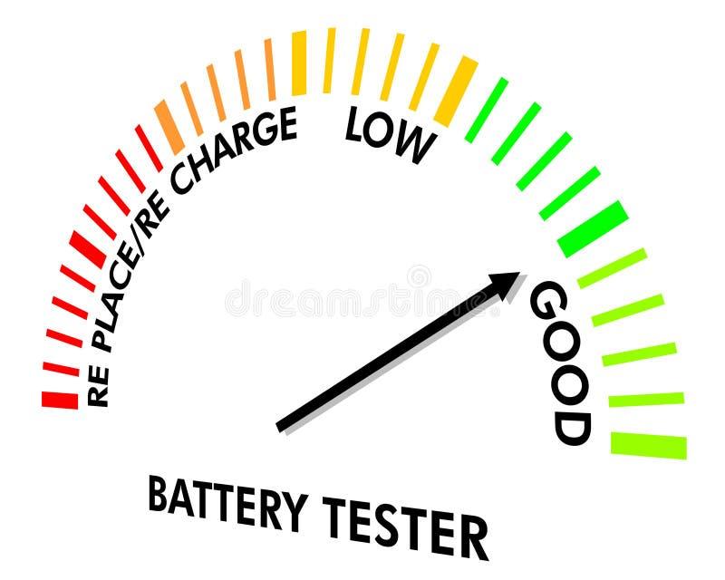 испытание аппаратуры батареи иллюстрация вектора