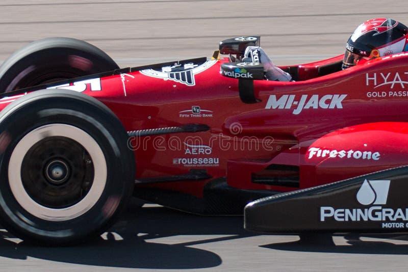 Испытание гоночной машины колеса автомобиля Indy открытое стоковые изображения