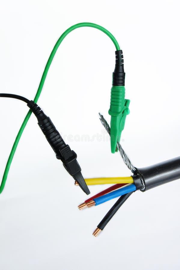 испытание кабеля стоковое фото rf