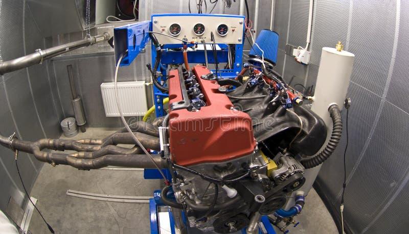 испытание комнаты двигателя стоковое фото rf