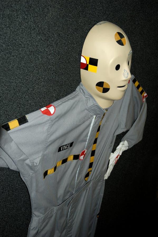 испытание куклы аварии стоковые изображения rf