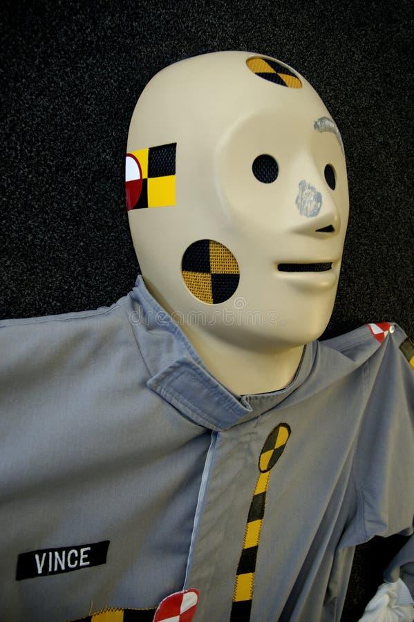 испытание куклы аварии стоковое фото