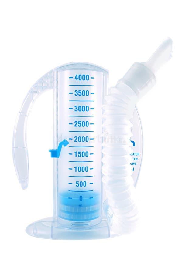 испытание прибора дыхательное стоковая фотография rf