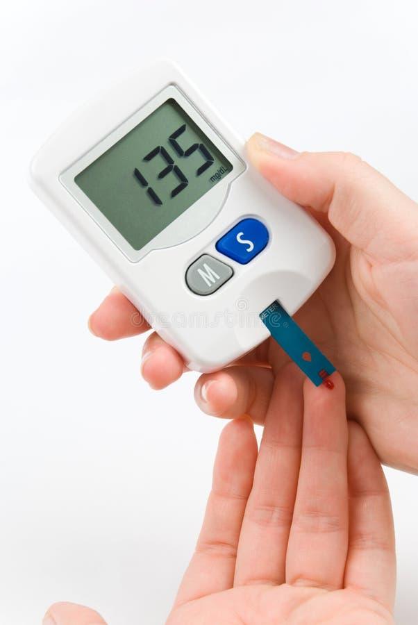 испытание сахара крови стоковое изображение rf