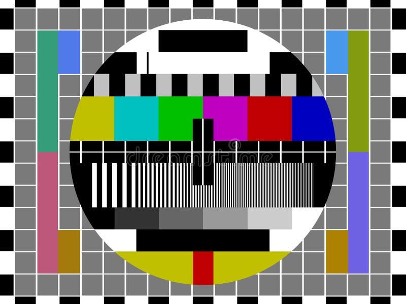 испытание телевидения экрана иллюстрация штока