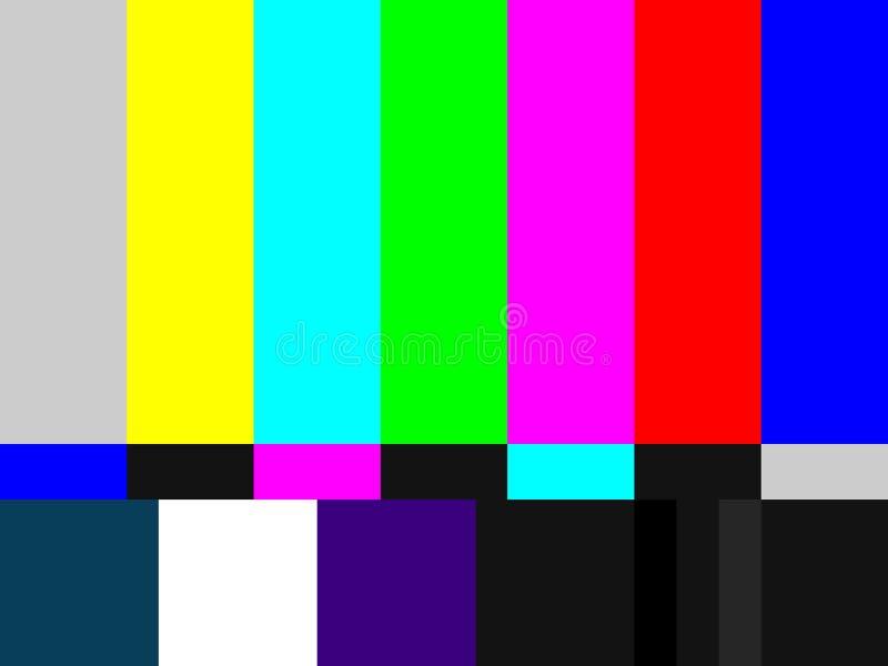 испытание Tv картины Стоковое Изображение