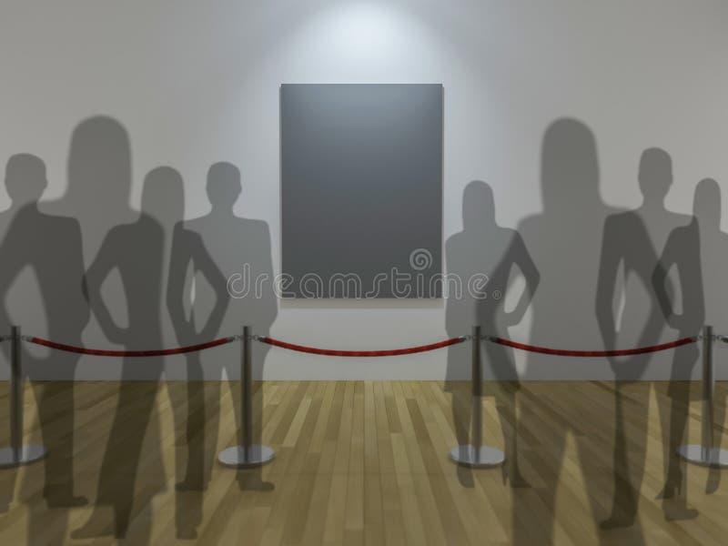 дисплей галереи 3d иллюстрация штока
