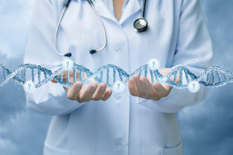 Исследование концепции молекул в медицине стоковые фото