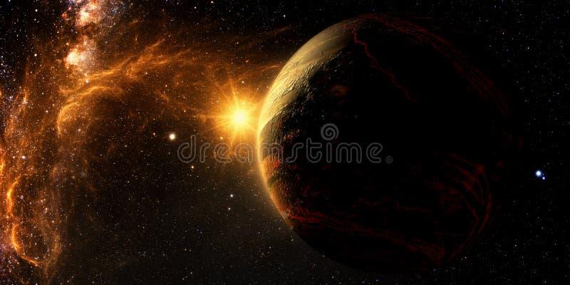 Исследование Exoplanet - фантазия иллюстрация штока