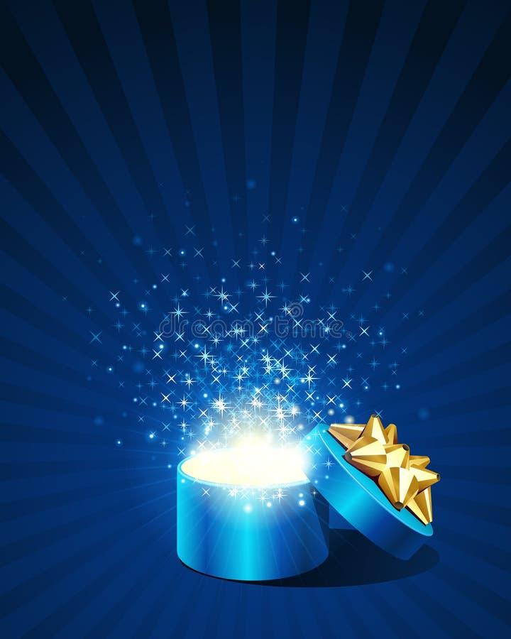 исследуйте звезды подарка мухы открытые иллюстрация вектора