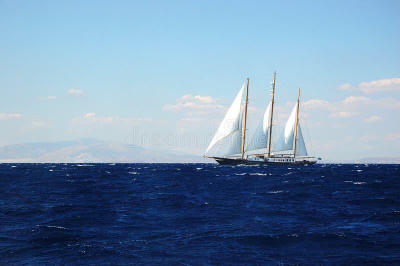 исследуя шторм sailing Греции стоковая фотография rf