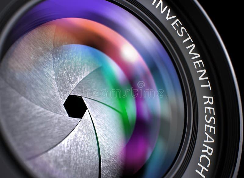 Исследование вклада на фотографическом объективе closeup стоковая фотография