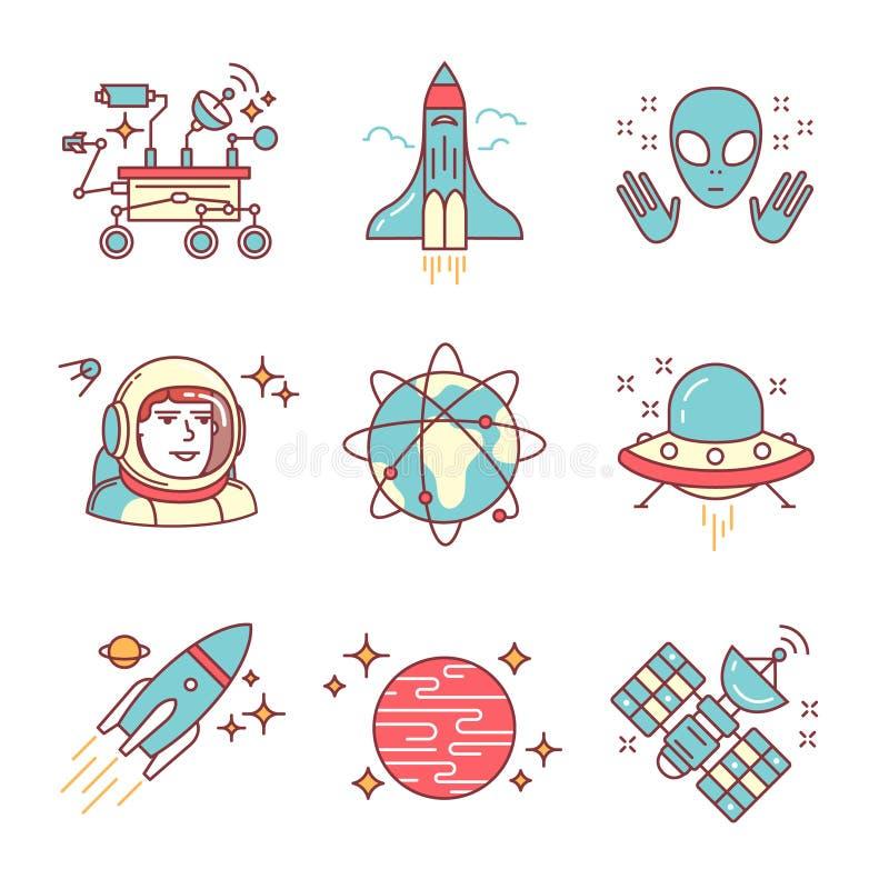 Исследование космоса поет комплект бесплатная иллюстрация