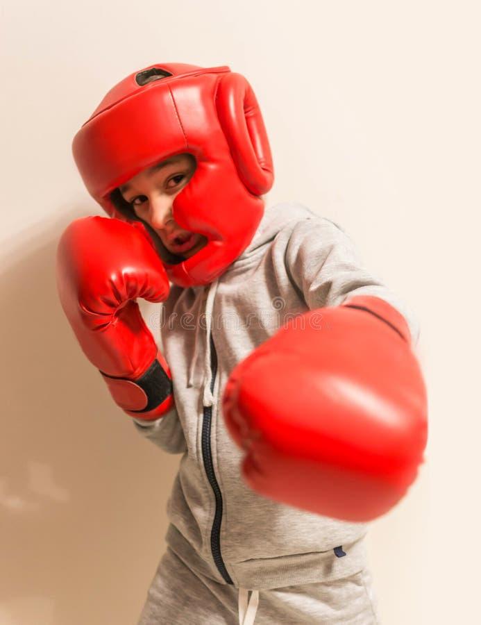 Истинные маленькие забастовки боксера бойца стоковые изображения