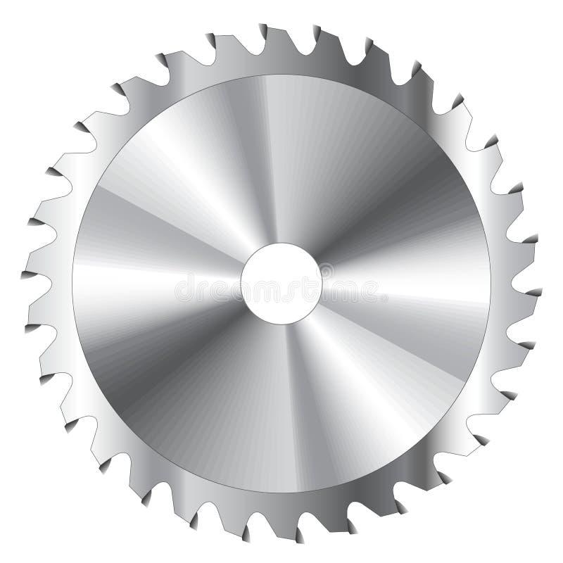 истирательная работа пилы металла диска резки по окружности лезвия иллюстрация вектора