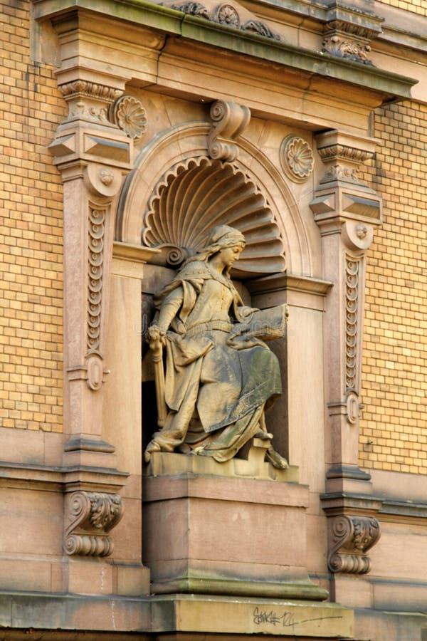 Историческая архитектура в Гейдельберге, Германии стоковое изображение rf