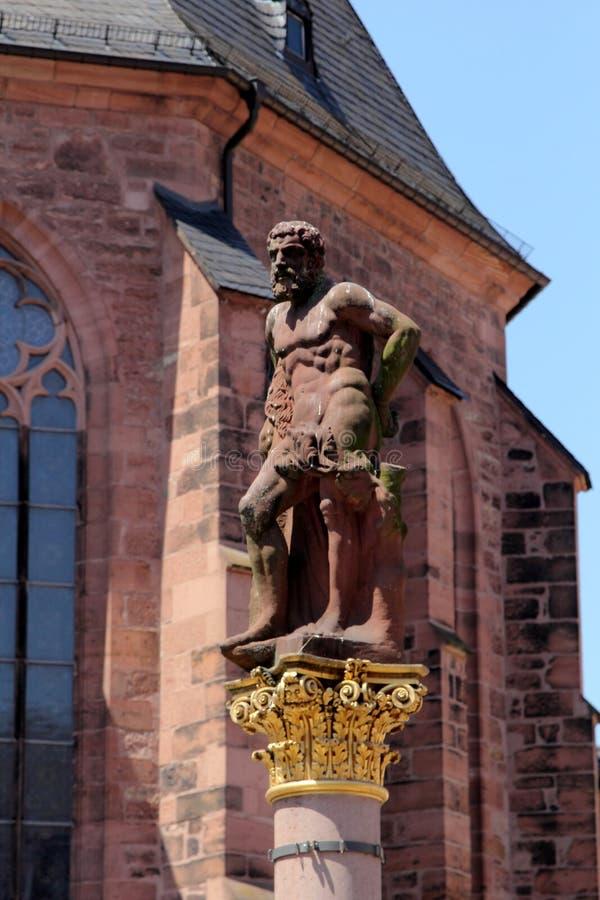 Историческая архитектура в Гейдельберге, Германии стоковые изображения rf