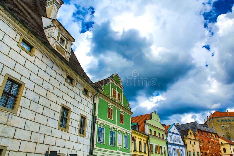 Download Историческая архитектура в центре Cesky Krumlov Стоковое Изображение - изображение насчитывающей европа, наследие: 40583805