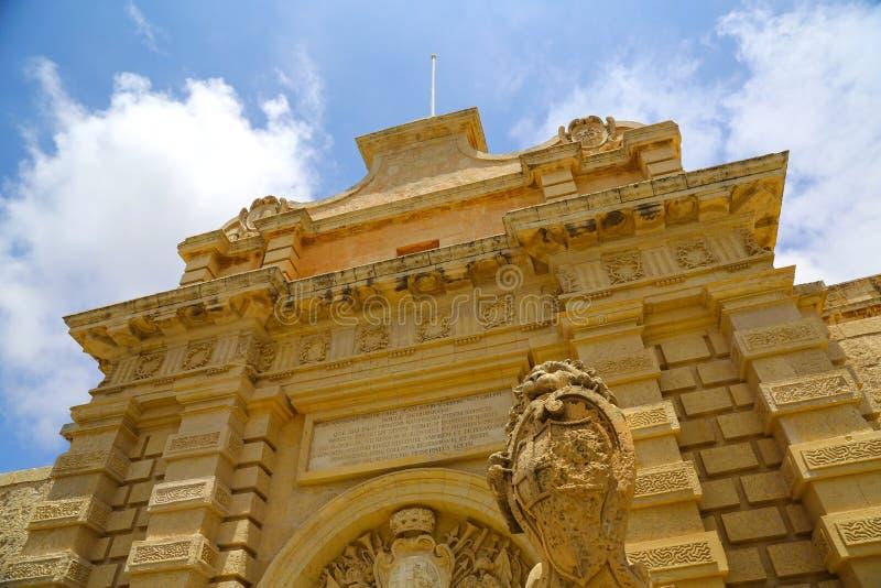 Download Историческая архитектура в Mdina Стоковое Изображение - изображение насчитывающей среднеземноморск, мальтийсно: 40583459
