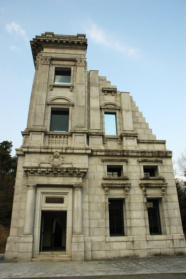 Историческая голова офиса банка Кавасаки в Meiji Мурае, Японии стоковая фотография rf