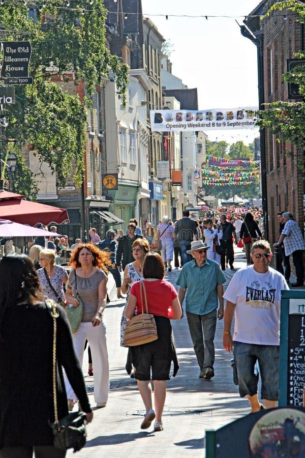 Историческая главная улица Кентербери стоковое изображение rf