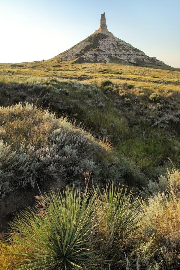 Историческая достопримечательность утеса камина национальная, западная Небраска, США стоковое фото