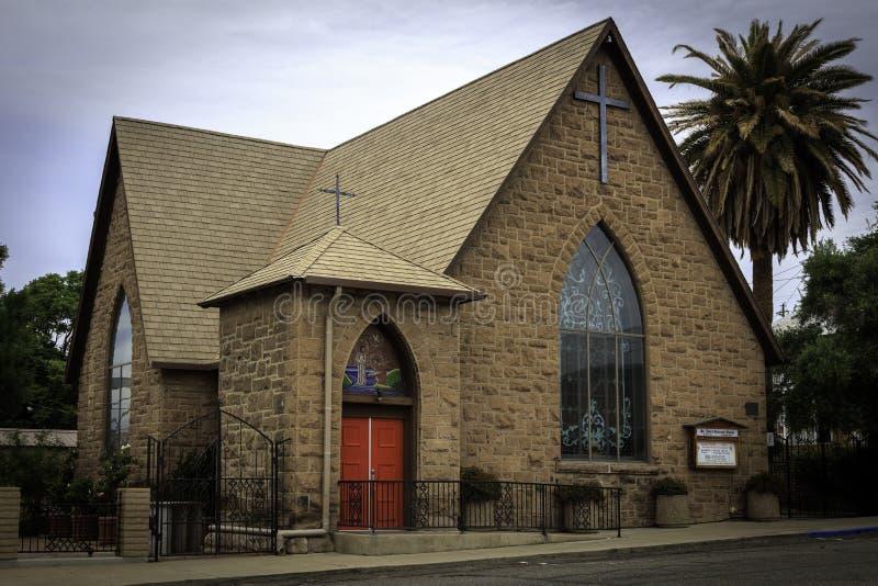 Историческая епископальная церковь Глоуба Аризоны стоковое фото rf