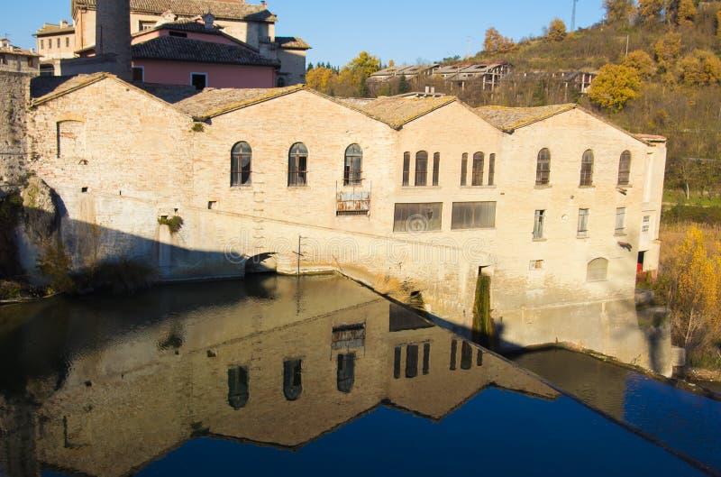 Историческая деревня Fermignano стоковые изображения