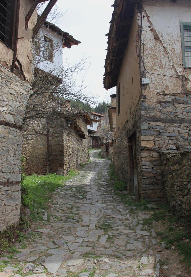 Историческая деревня Leshten стоковые изображения rf