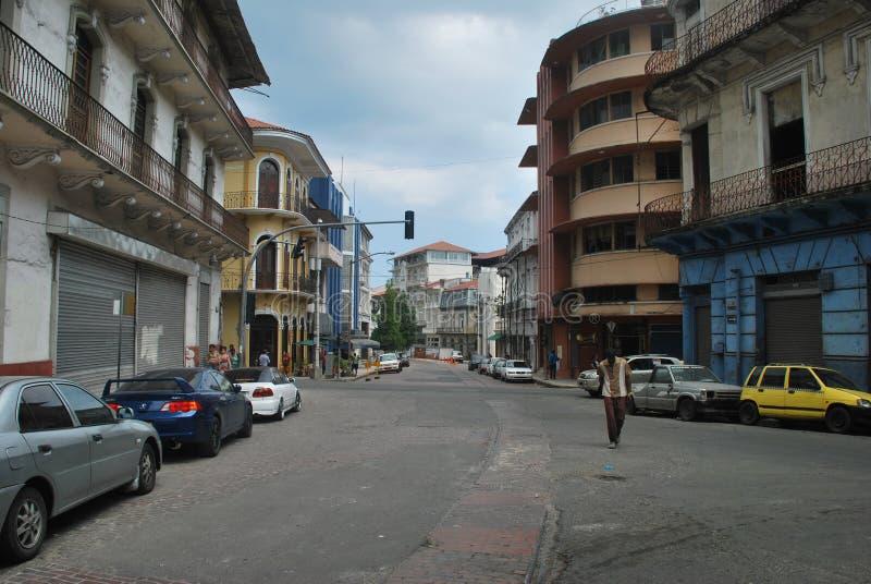 Историческая зона ‹Casco Antiguo †‹â€, республики Панамы стоковое изображение